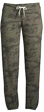Monrow Women's Camo Fleece Sweatpants