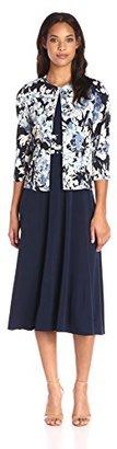 Jessica Howard Women's 3/4 Printed Jacket Dress $99 thestylecure.com