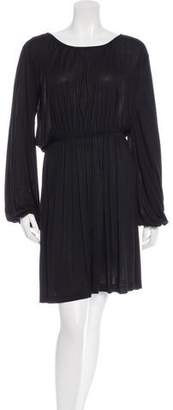 Tomas Maier Scoop Neck Long Sleeve Dress