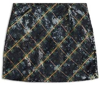 Ralph Lauren Girls' Plaid Sequin Skirt - Big Kid