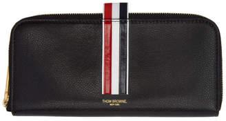Thom Browne Black Long Half-Zip Wallet