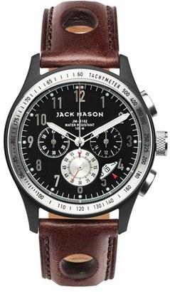 Men's Jack Mason Chronograph Leather Strap Watch, 42Mm $305 thestylecure.com
