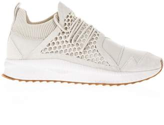 Han Kjobenhavn Puma X Han Silver Birch Leather & Knit Sneakers
