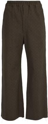 BY WALID Jacques raw-edge cotton trousers