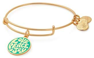 Alex and Ani Words Are Powerful Love, Peace, Joy Charm Expandable Wire Bracelet