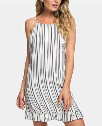 12867f44eb9 Roxy Juniors  Striped Ruffle-Hem Dress