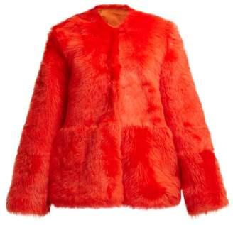 Raey 1970s Shearling Coat - Womens - Orange