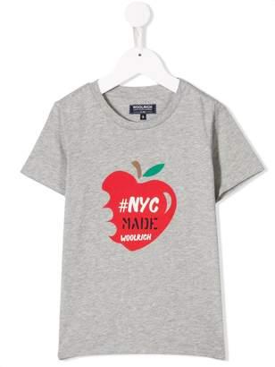 Woolrich Kids apple print T-shirt