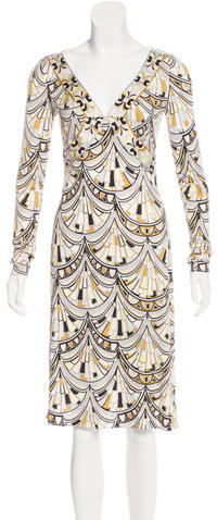 Emilio Pucci Emilio Pucci Silk Midi Dress