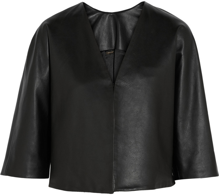 ADAM by Adam Lippes Cropped Leather Jacket
