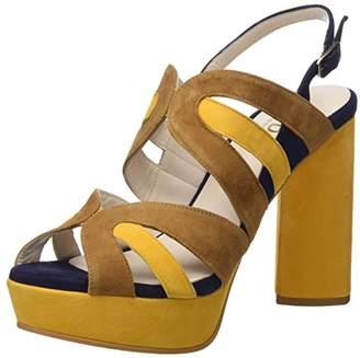Lodi Women's Xalea Platform Sandals, Multicolour (Ante Safron-Pacifico Camel)