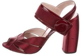 Miu Miu Satin Ankle-Strap Sandals