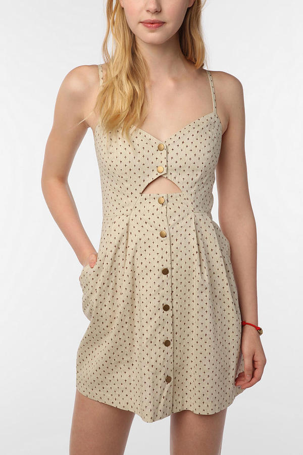 COPE Linen Front Cutout Dress