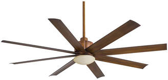 """Minka Aire Ceiling Fans Minka Aire 65"""" Slipstream 8 Blade Ceiling Fan with Remote, Light Kit Included"""
