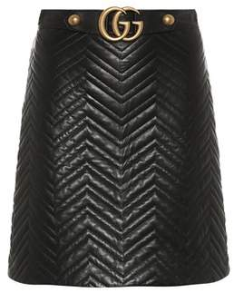 Gucci GG quilted leather skirt