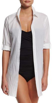 Tommy Bahama Plus Size Button-Down Boyfriend Shirt