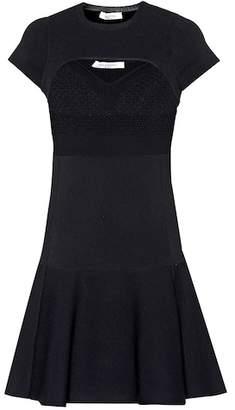 Valentino Cutout stretch-knit minidress