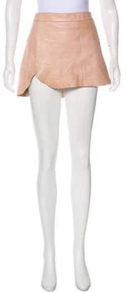 Mason Leather Mini Skirt