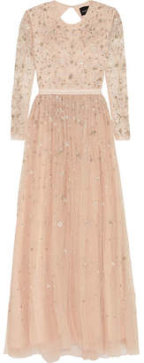 Needle & Thread - Celestial Embellished Tulle Gown - Blush $445 thestylecure.com