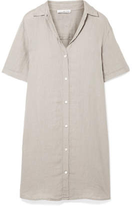 James Perse Linen Mini Dress - Mushroom
