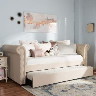 Baxton Studio Mabelle Upholstered Daybed & Trundle