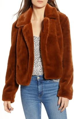 Blank NYC BLANKNYC Crop Faux Fur Jacket