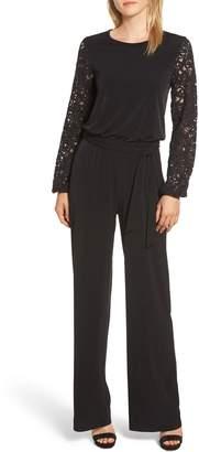 MICHAEL Michael Kors Lace Sleeve Jumpsuit