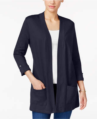 Karen Scott Three-Quarter-Sleeve Cardigan, Only at Macy's $36.50 thestylecure.com