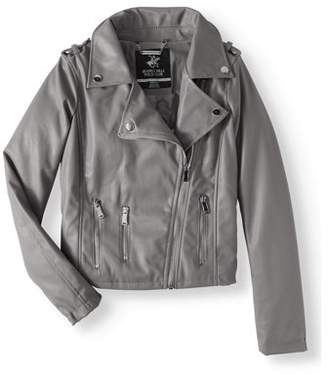 Beverly Hills Polo Club Faux Leather Moto Jacket (Big Girls)