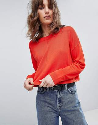 Asos Oversized Sweater With Seam Detail