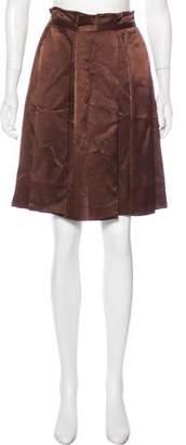 Chloé Pleated Knee-Length Skirt