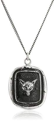 Pyrrha Unisex Fox Sterling Talisman Pendant Necklace