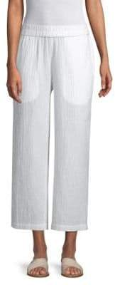 Eileen Fisher Organic Cotton Gauze Straight Leg Pant