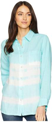 Allen Allen Tie-Dye Long Sleeve Shirt Women's Long Sleeve Button Up