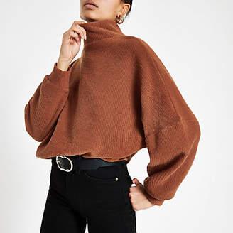 River Island Dark orange high neck sweater