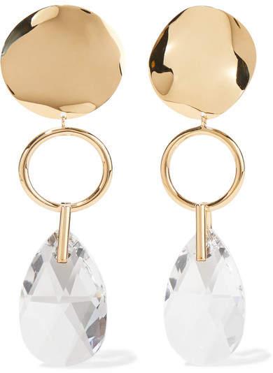 Isabel Marant - Gold-tone Crystal Earrings