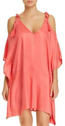 Echo Cold-Shoulder Dress Swim Cover-Up