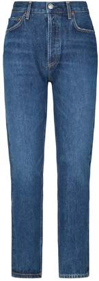 A Gold E Agolde Pinch Kick-Flare Jeans