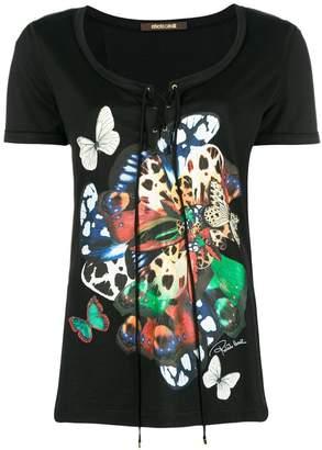 Roberto Cavalli butterflies print T-shirt