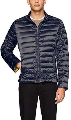 Bugatchi Men's Nylon Horizontal Quilted Bomber Jacket
