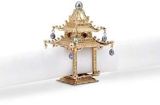L'OBJET Pagoda napkin jewel set