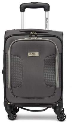 """Ben Sherman Houndstooth Hike 16\"""" Under Seat Carry-On Spinner"""