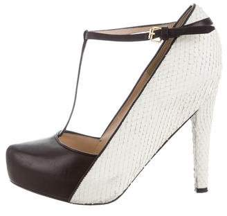 3.1 Phillip Lim Embossed T-Strap Pumps