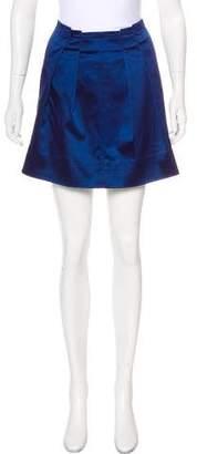 Elizabeth and James Satin Mini Skirt