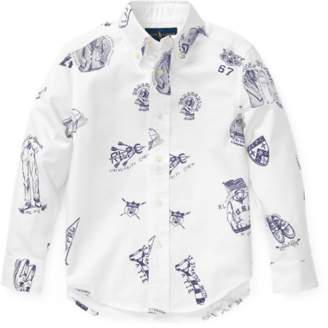 Ralph Lauren Icon-Print Cotton Oxford Shirt