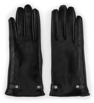 Reiss JESSICA TOUCH DENTS LEATHER GLOVES Black