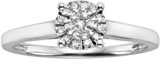 Brilliance+ Diamond Brilliance Sterling Silver 1/8-ct. T.W. Diamond Ring