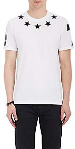 Givenchy Men's Star-Appliquéd Cotton Jersey T-Shirt - White