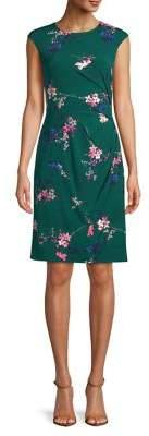 Eliza J Gathered Floral Sheath Dress