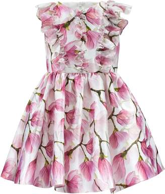 David Charles Floral Ruffle Party Dress
